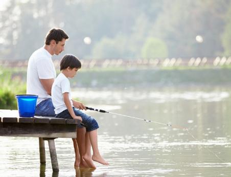 向爸爸学习钓鱼